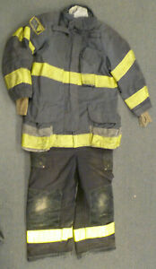 Janesville Firefighter Set Jacket 42x35 Pants 40x26 Bunker Turn Out Gear S53