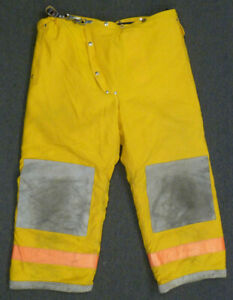 40x28 Janesville Pants Firefighter Turnout Bunker Fire Gear W Liner P001