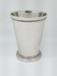 Large Silverplate Mint Julep Cup R S