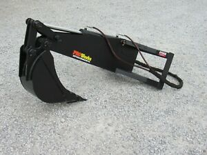 42 Solid Bottom Bucket Grapple With Teeth Attachment Fits Mini Skid Steer Dingo