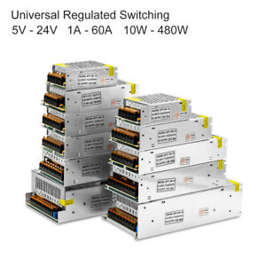 Universal 5v 24v Dc 1a 60a Regulated Switching Power Led Strip Lights Supply Us