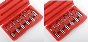 26pc Metirc Sae Allen Hex Socket Bit Set Wrench Ratchet 1 4 3 8 1 2 Mm New