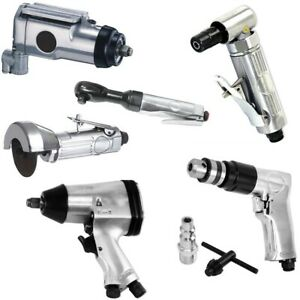 6p Air Tool Set 3 8 Butterfly 1 2 Impact Angle Die Grinder Drill Ratchet Cut Off