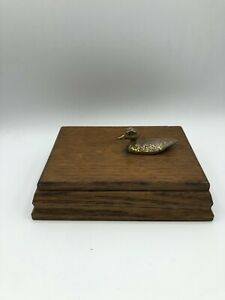 Antique Wood Box For Small Jewelry Queen Art With Cooper Pelican