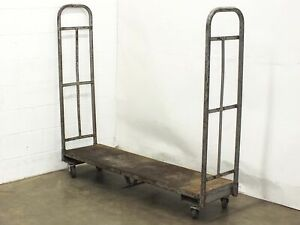 Industrial 64 X 16 X 57 Utility Delivery Cart On Wheels