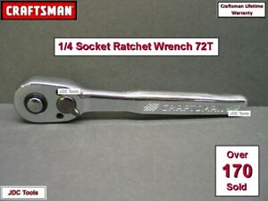 Craftsman 1 4 Drive Ratchet Socket Wrench Full Polish 72 Tooth Quick Release