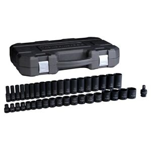 39 Piece 1 2 Drive 6 Point Sae Standard Deep Impact Socket Set Kdt84947n New