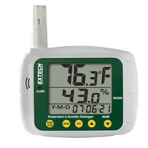 Extech 42280 Temperature Humidity Datalogger 4 To 144 f