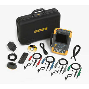 Fluke 190 204 am s 200 Mhz 4 ch 2 5 Gs s Scopemeter Oscilloscope