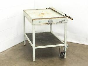 Industrial Guillotine Paper Cutter Shear With Table 31 5 X 23 75