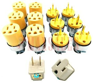 Male Female Extension Cord Replacement Electrical Plugs 3 To 2 Prong Plugs