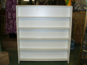 2 sided Shelf books Dvd s Vhs Store Fixture Display Unit 48 X 54 11 Shelves