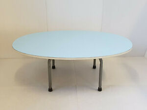 Large Table Low Formica Sky Blue Vintage 1960 Nursery 60s 60 S