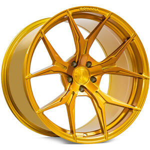 Qty4 20 Staggered Rohana Wheels Rfx5 Gloss Gold Rims Ca