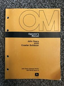 John Deere 450d Crawler Bulldozer Owner Operator Maintenance Manual Omt80145