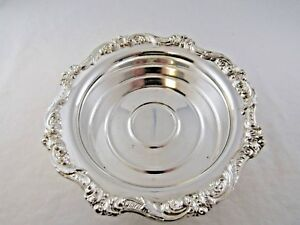 Vintage Poole Silver Co Wine Coaster Candy Dish Silverplate Gift Silver Plate