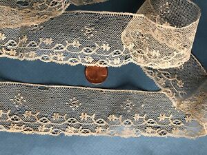 Handmade Point Ground Maybe Lille Bobbin Lace C 1800 Collector