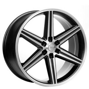 Qty4 22 Iroc Wheels Black Machined 6 Lugs Rims Ca