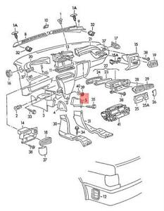 Genuine Air Channel For Pass Cabin Heater Lhd Right Front 1h1819160a