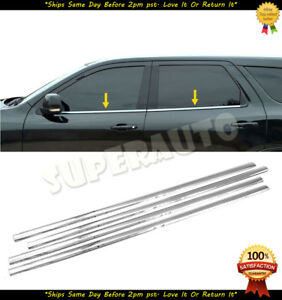For 2011 2017 Dodge Durango 4pcs Window Sill Stainless Polished 2012 2013 2014