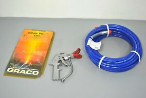 Graco Silver Plus Airless Paint Gun And Line With Whip Tip Guard All New