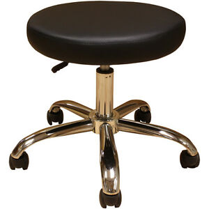 Medical Med Exam Examination Doctor Dr Stool Chair Black 19 Chrome Base