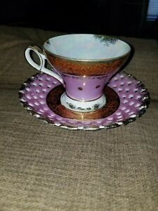 Sweet Vintage L M Royal Halsey Vintage Very Fine China Pink Tea Cup And Saucer