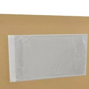 500 5 5x10 Packing List Envelope Clear Face Invoice Slip Enclosed Pouch Side