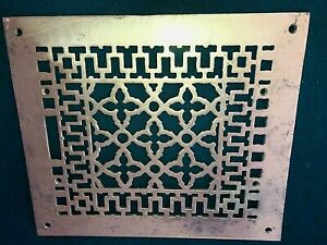 Vintage Aab Anglo American Brass Co Heat Register Wall Floor Grate Vent