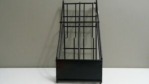 Metal Wire Business Card Holder Brochure Rack Pamphlet Display Stand 2 Tiers
