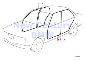 Bmw Genuine Edge Protection coverings Rockers Edge Protection Left E30