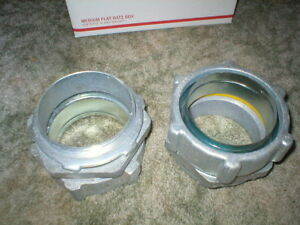 4 Sealtite Straight Connectors With Locknut O Ring O Z Gedney Lot Of 2