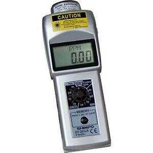 Shimpo Dt205lr Handheld Laser Non contact contact Digital Tachometer Lcd 6 whee