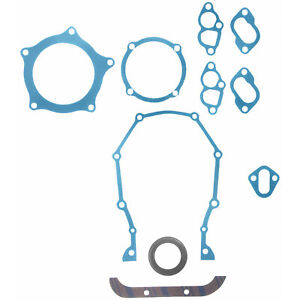 Big Block Mopar 383 400 440 Engine Timing Cover Gasket Set Fel Pro Tcs 12460 2