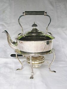 1920 S Chrichton Co Silverplate Teapot With Stand Burner