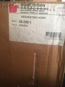 New Federal Signal 56 250 1 Resonating Horn 250vdc Gray Dc Series A3