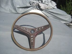 1969 Ford Mustang Mach 1 Rim Blow Deluxe Steering Wheel Core Red