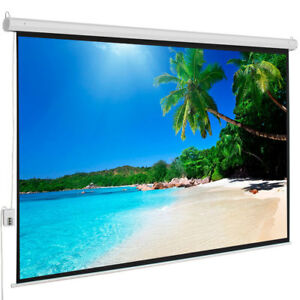 100 4 3 Electric Motorized Projector Screen Hd Home Theater Remote Control Us