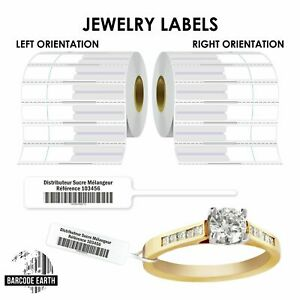 Thermal Transfer Jewelry Rat Tail Labels For Zebra Thermal Printer