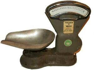 Vintage Antique Original Toledo Scale Co Country General Store Candy Scale
