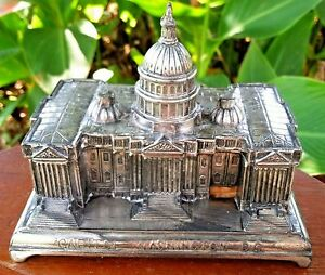 Jennings Brothers Jb Silver Plated Repousse Desk Box Of Capitol Washington Dc