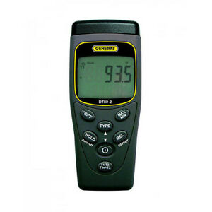 General Tools Dt802 Type K j 2 ch Tc Thermometer 328 To 2498 F