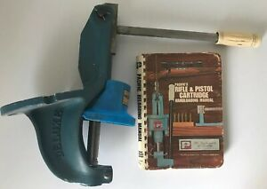 Nice Vintage Pacific Super Deluxe Reloading Press Primer Tray & Manual