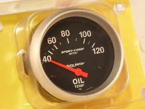 Autometer 2 5 8 Oil Temperature Gauge Ford Hot Rod Race Kit Car Chevy