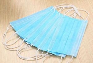 Disposable Face Mask Ear Loops Surgical Dust Filter Salon Travel Flu Mouth Cover
