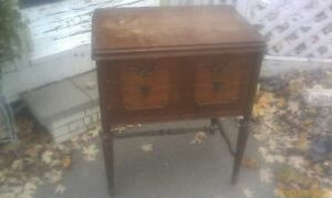 Vintage Antique Cabinet For Kenmore 117 Series Rotary Electric Sewing Machine