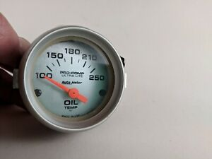Autometer 4347 Oil Temp 100 250 P S I Gauge