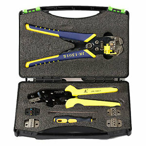 Multifunction Ratchet Crimpers Strippers Terminals Pliers Kit Us Stock