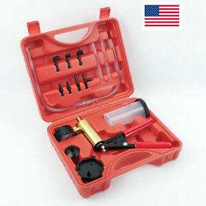 Hand Held Vacuum Pump Bleeder Brake Fluid Bleeder Oil Change Tester Kit Pistol
