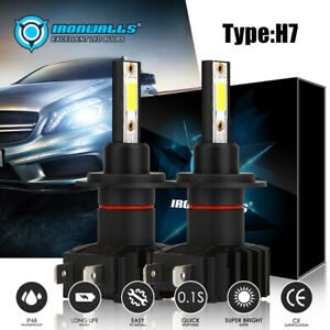4 Sides Cree H7 2000w 300000lm Led Headlight Kit High Or Lo Light Bulb 6000k Hid